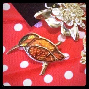 Vintage Bird Brooch